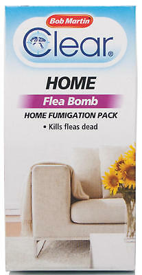 Flea Fumigation Bomb Home  Pack - Bob Martin Clear  - Dog Cat Animal Pest!
