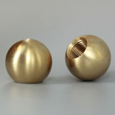 "1/2"" to 1 1/2"" Dia ~ Unfinished SOLID BRASS BALL  ~ 1/8 IP 3/8"" Threaded Hole"