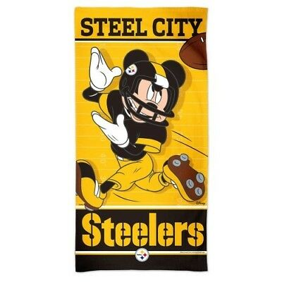 672bc456998 Pittsburgh Steelers Mickey Mouse Spectra Beach Towel 30
