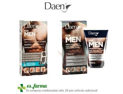 Daen For Men Crema Depilatoria Hombre Bandas Cera Hair Removal Cream Wax Strips