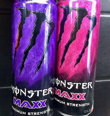 Monster Energy Drink Maxx Eclipse & Solaris Pack Brand New Full Cans