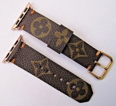Louis Vuitton Upcycled Handmade Lv Monogram Strap/band 38Mm Apple Watch - Small