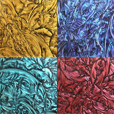 5x10cm Van Gogh Glass Plate for mosaic arts and crafts - Various Colours
