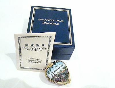 Halcyon Days Enamel For My Darling Daughter Box