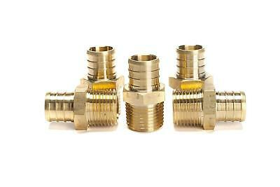 "PEX 3/4"" x 1/2"" Inch Male NPT Thread Adapter - Crimp Fitting Bag of 5 pcs / Bras"