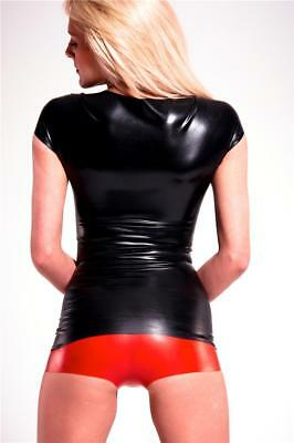 Latex Hot Pants - Black Red Translucent - Shorts - Underwear - Rubber - Fetish