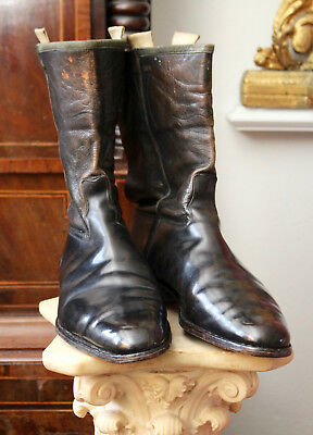 A Fine Pair WWII Era Vintage Gieves Military Dress/Cavalry Boots
