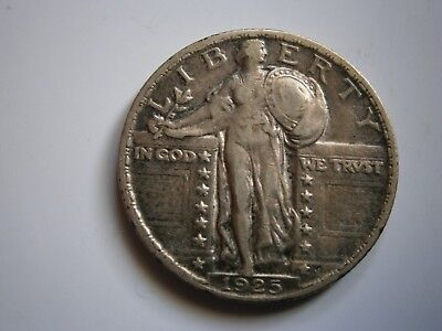 1925 Standing Liberty Quarter Very Fine Condition Nice Type Coin