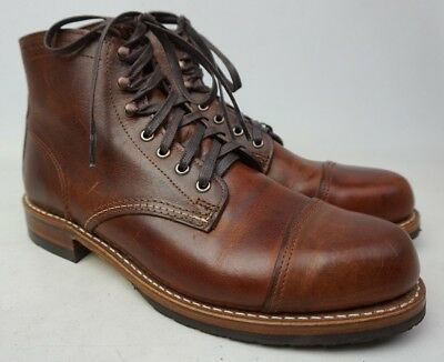bcfb4a60cf9 WOLVERINE 1000 MILE Adrian Cap Toe Brown Leather Men s Boot Size 10 ...