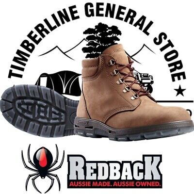 Redback UACH Crazy Horse ( Bark ) Lace Up Work Boots Apline All Sizes