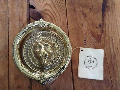 Vintage 1985 Virginia Metalcrafters Lion Brass Door Knocker New With Tag!