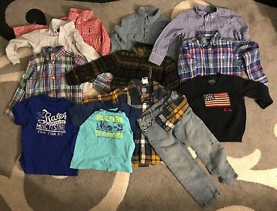 Lot of Toddler Boys Polo Ralph Lauren Shirts/Sweaters/Jeans/Rugby/SnowBeach/Bear
