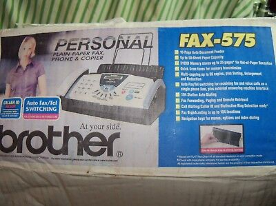 NEW BROTHER FAX-575 Personal Plain Paper Fax, Phone & copier  USA Seller