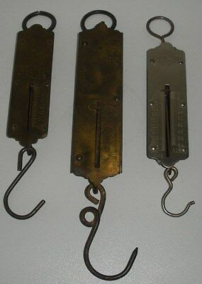 3 Antique Brass Scales (Chatillon's,N.Y.)