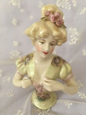 """Porcelain Half Doll - """"Miss Lucy"""""""