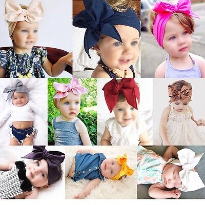 10Pcs Kid Girl Baby Toddler Bow Headband Hair Band Accessories Headwear US STOCK