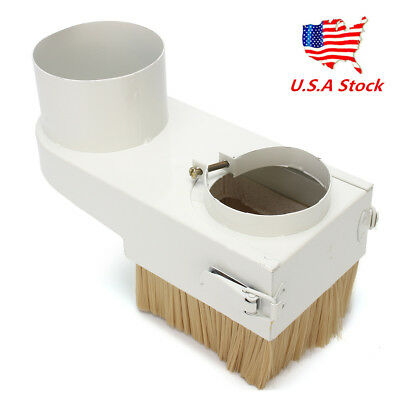 US 80mm White Spindle Dust Shoe Cover Cleaner For Cnc Engraving Milling Machine
