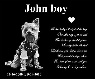Large Pet Headstone dog cat tombstone Laser Engraved on the Grave Marker Granite