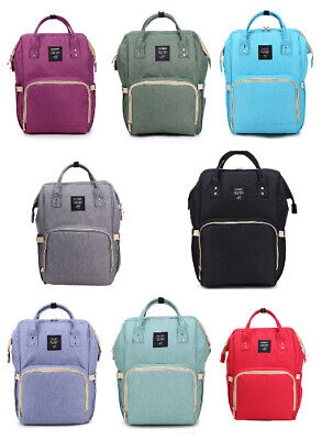 Baby Care Diaper Bag Backpack Nappy Nursing Organizer for Mom Large Capacity