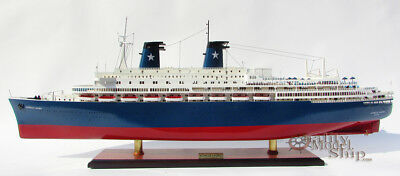 MS Achille Lauro Ocean Liner Handmade Wooden Ship Model 40""