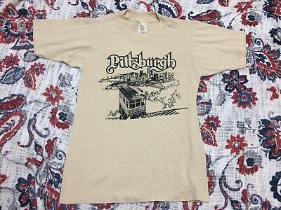 Vintage 80's Pittsburgh T Shirt S Vintage Fit