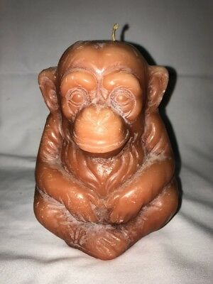 Vintage Chimpanzee Monkey Shaped Candle Unused