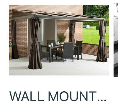 Charming 3x4.8m Aluminium Canopy,Patio Cover,, Lean To, Smoking Shelter,