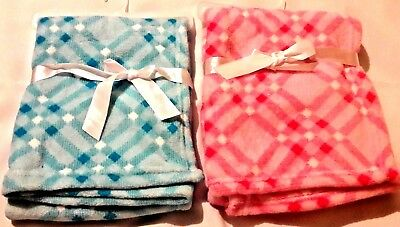 Personalized Minky Newborn Baby Blanket Pink or Blue Twin Baby Shower Gift