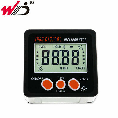 IP65 Waterproof Digital Protractor Inclinometer Angle Bevel Box with Back light