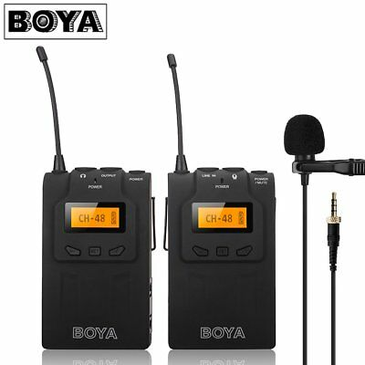 BOYA BY-WM6 PRO UHF Wireless Microphone System Lavalier for ENG  DSLR Camera SY