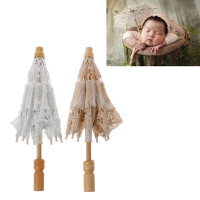 Newborn Infant Baby Photography Props Lace Umbrella Studio Shooting Photo Prop