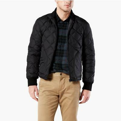 New Dockers Mens Quilted Down Jacket
