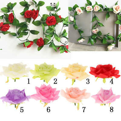 10pcs Artificial Silk Rose Flower Head Flowers for Vase Filler Wedding Decor