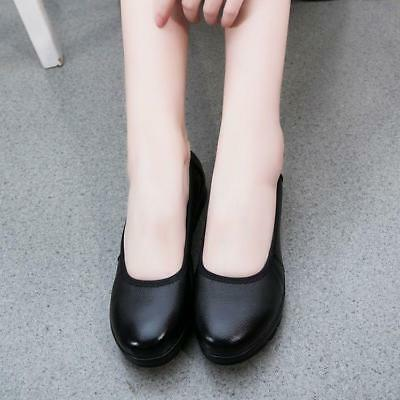 Fashion Womens's Occupational Bowknot Round Toe Flattie Casual Shoes New