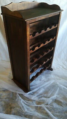 Mueble BOTELLERO de madera, 25 botellas. Repisa. Color Nogal. xl Modelo classic
