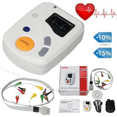 48 Hours ECG Holter Dynamic EKG Machine 12 Channel Sync analysis Software USB