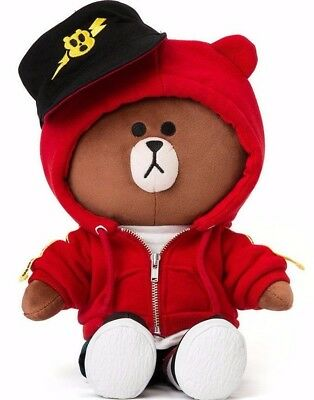 [LINE FRIENDS]Brown Bear Costume Edition Red Hoodie 15inch Plush doll + Tracking