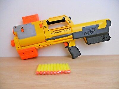 Nerf N Strike Deploy CS-6 Collapsable Gun Laser Sight Pump Action Shotgun + Ammo