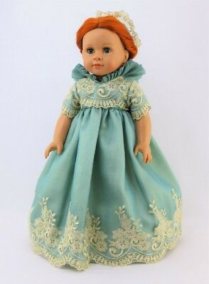 """Doll Clothes Dress Royal English Queen Court Mint Gold For 18"""" American Girl"""