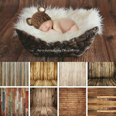 Newborn Baby Rugs Photo Props Vintage Wood Photography Backdrops Lighting 3x5ft
