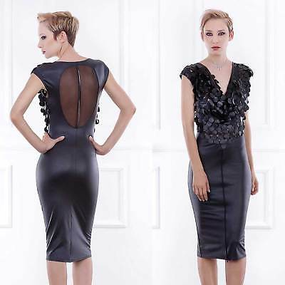 PATRICE CATANZARO Osisko Cocktail Dress Wetlook Kunstleder Kleid -Sehr Edel-