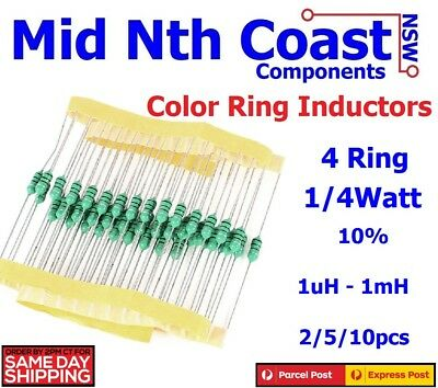 1uh~1mh Color Ring 0307 Fixed Inductors 1/4W 10% Tolerance RF Choke Axial Leads