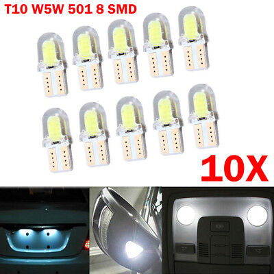 10x LED T10 Canbus SMD 8 COB Lampen Standlicht innenraumbeleuchtung Weiß Auto