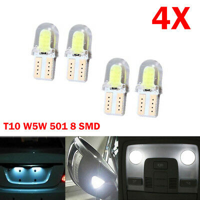 4x T10 Canbus SMD 8 COB LED Auto Lampen Standlicht innenraumbeleuchtung Weiß