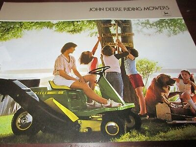 John Deere 65-68 Riding Mowers Sales Brochure 1978