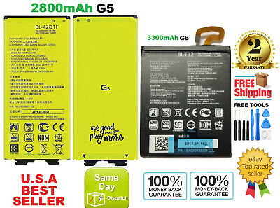 New Original OEM LG G5, LG G6 Replacement Battery H820 H860 H868 H960 BL-42D1F