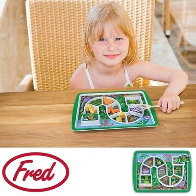 NEW Fred Dinner Winner - Dino Time Kids Fun Plate Melamine Food-safe Feeding Aid
