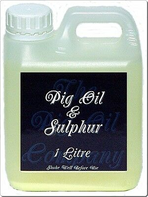 PIG OIL & SULPHUR - 1 Litre - Ideal for Horses Mane and Feathers