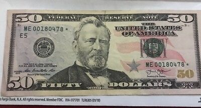 2013 $50 US Dollar Bill Star Note ME00180478* Only one Run Richmond Note