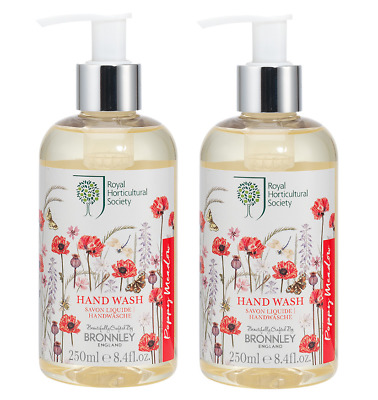 2x Bronnley POPPY MEADOW Hand Wash 250ml